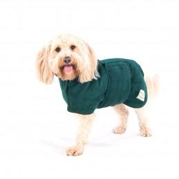 Bademantel für den Hund, von Ruff And Tumble grün