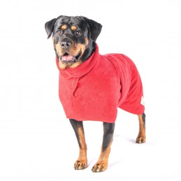 Bademantel für den Hund, von Ruff And Tumble rot